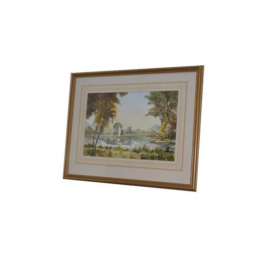 57 - A Watercolour 'Placid Lake' - John Snelling...