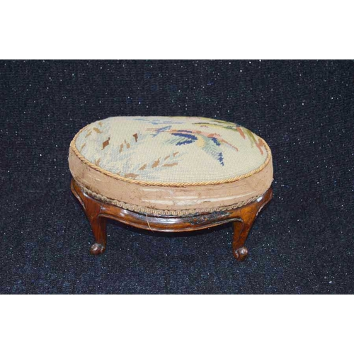 23 - A Victorian Oval Footstool