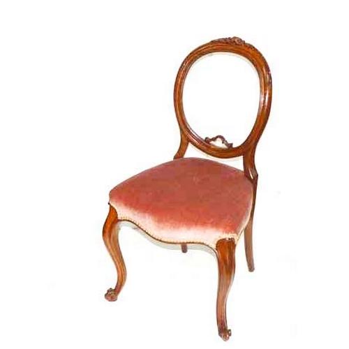 26 - A Victorian Balloon Back Chair