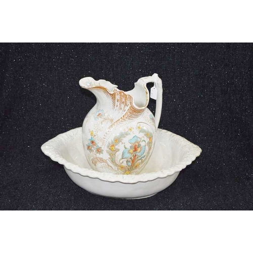 36 - A Victorian Ewer and Basin