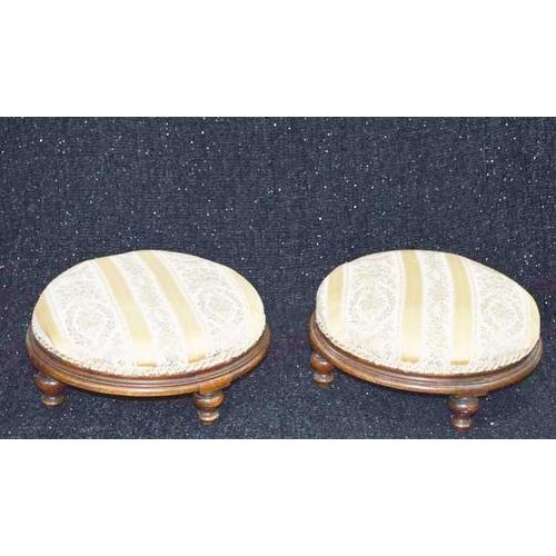 43 - A Pair of Victorian Circular Footstools