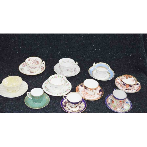 58 - A Lot of Ten Cabinet Cups and Saucers