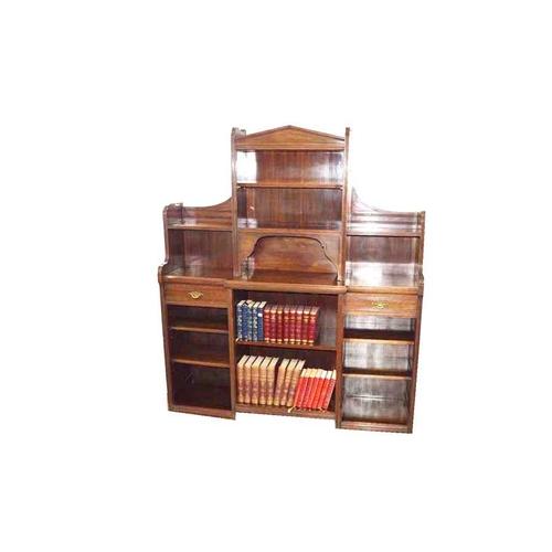 45 - A Late Victorian Mahogany Open Bookcase