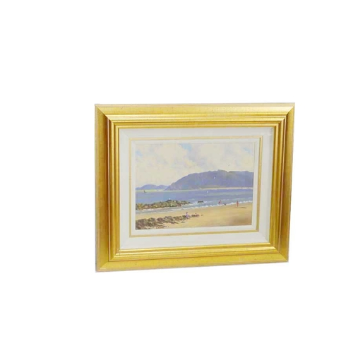 50 - An Oil Painting 'On The Beach' - David Overend