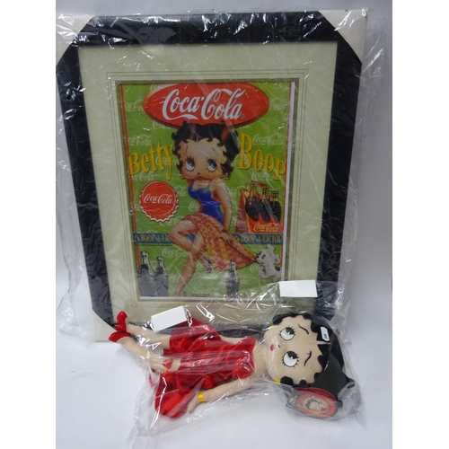 40 - Betty Boop picture & soft toy...
