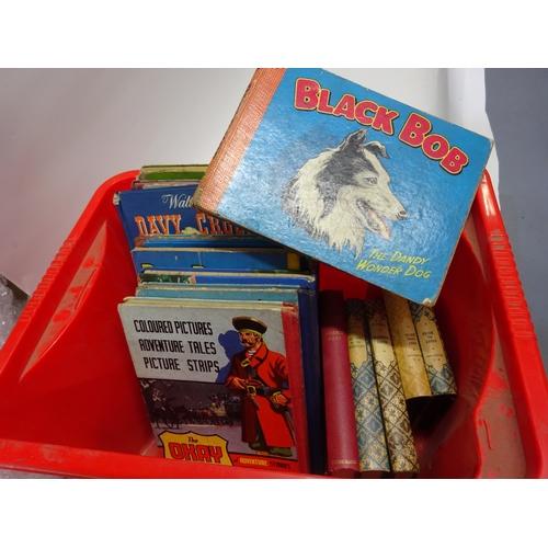 43 - Box of retro books, Black bob, Danny duckling, Bunnikins Beano book etc...