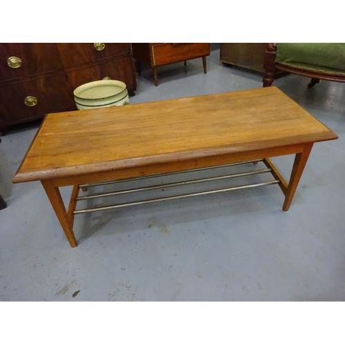8 - Teak coffee table...