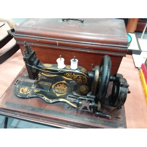 56 - Vintage Varley & Co Sewing Machine...