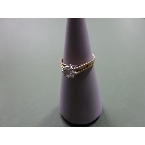 2 - 9ct gold ladies ring with central C.Z stone, total weight 1.9g...