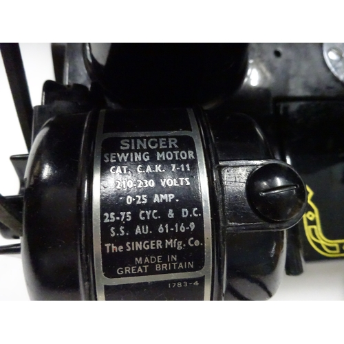 12 - Featherweight Singer sewing machine Model 222k - in case with extras...
