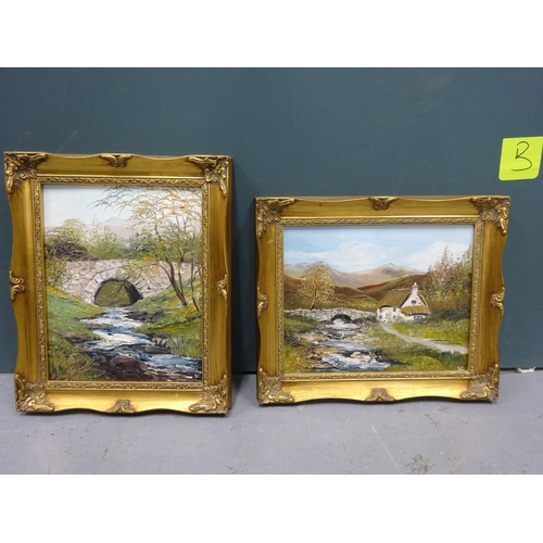 37 - (B) 2x Small paintings Ann Celia Freeman...