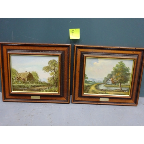 41 - (F) Landscape painting by J.Chilton & another by Jenkins...