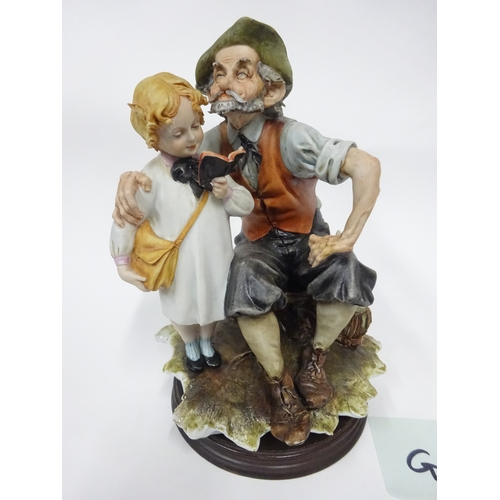 25 - Capodimonte - Boy reading to man...