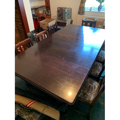 26 - 6ft Mahogany Riley Snooker/Dinning table with many accessories and dinning chairs...