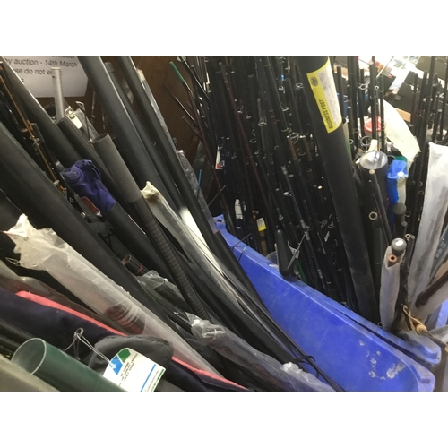 53 - Approximately 150 - 200, mixed, un bagged & loose fishing rods, new old stock(1990's)...