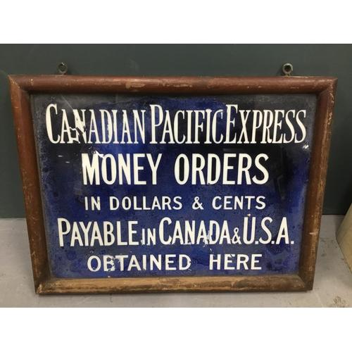 27 - Vintage enamel framed adverstising sign...