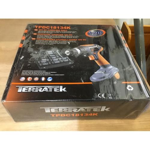 6 - Terratek 18V Cordless Drill Driver Sensational Electric Screwdriver Set NEW...