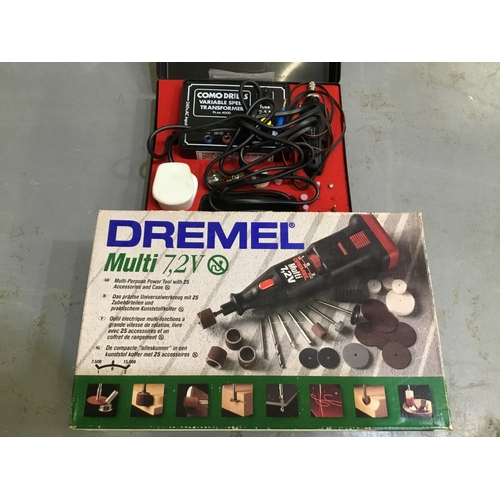 8 - Dremel dril and Combo drill transformer...