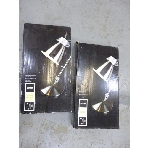 364 - (2) 2 x Lever arm desk lamps...