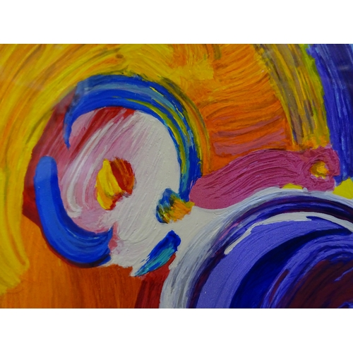 6 - Peter Max - Angel with Heat II - 162/495 (Framed)...