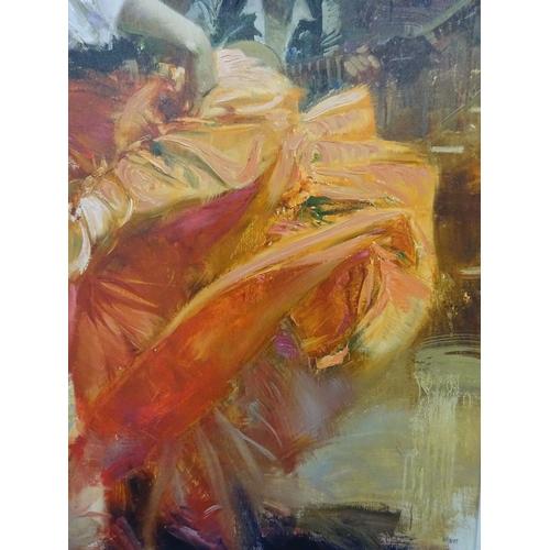 7 - Pino - Flamenco in Red - 75/80 (Framed)...