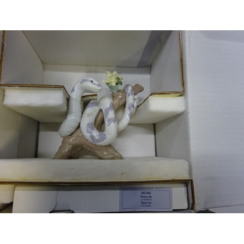 12 - Lladro - The Snake - with box...