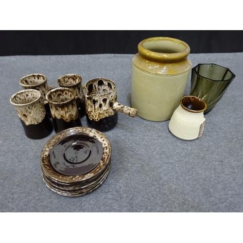 42 - Quantity of stoneware - cups, jug, vase etc...