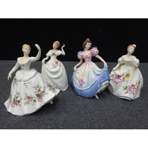 51 - Collection of 4 Royal Doulton figurines - Shirley/Dawn/Angela/Marilyn...