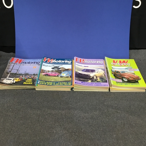 121 - Large collection of 'VW Motoring' magazines (every issue from 1986-1989)...