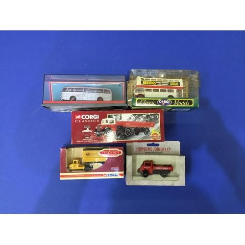 150 - Corgi trailer & bis models (5 boxes)...