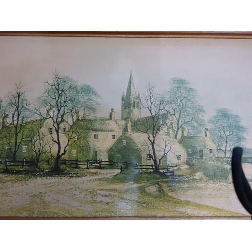 7 - Ron Folland 'Hamlet Bridge' large framed print...