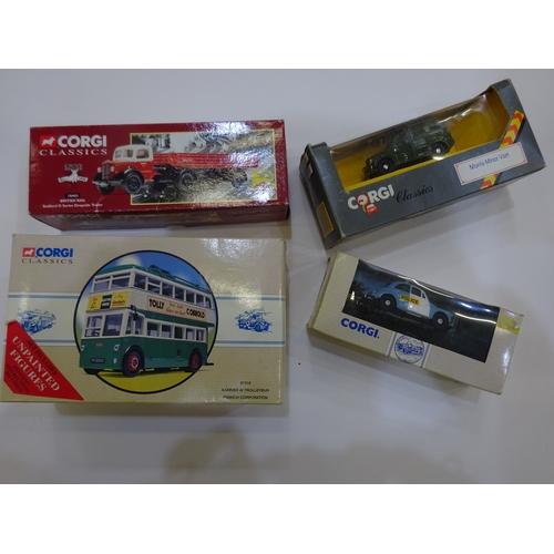 30 - Corgi van, bus, car trailer models (4 boxes) M4...