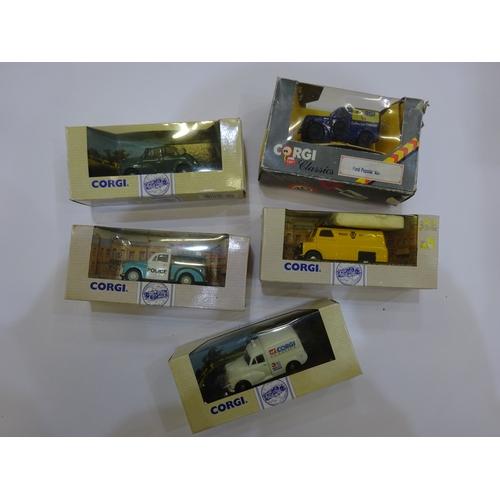 31 - Corgi van & car models ( 5 boxes) M3...