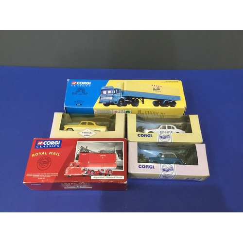 124 - Corgi car & trailer models (5 boxes)...