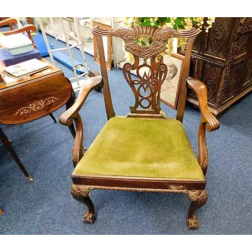 32 - A mahogany Chippendale style chair...