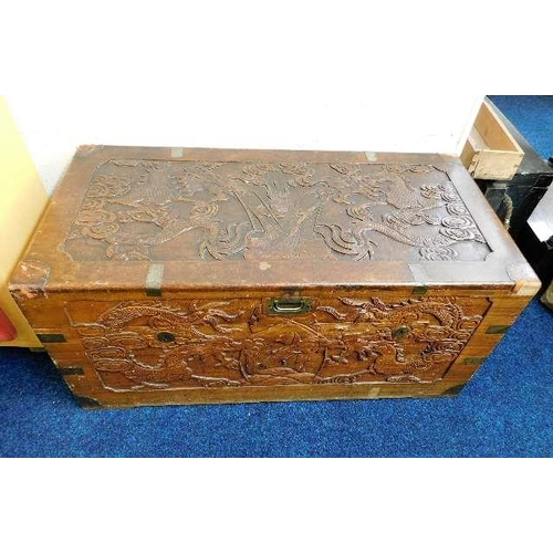 45 - A brass bound Chinese chest...