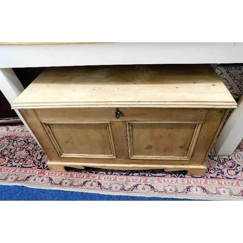 55 - A Victorian pine chest...