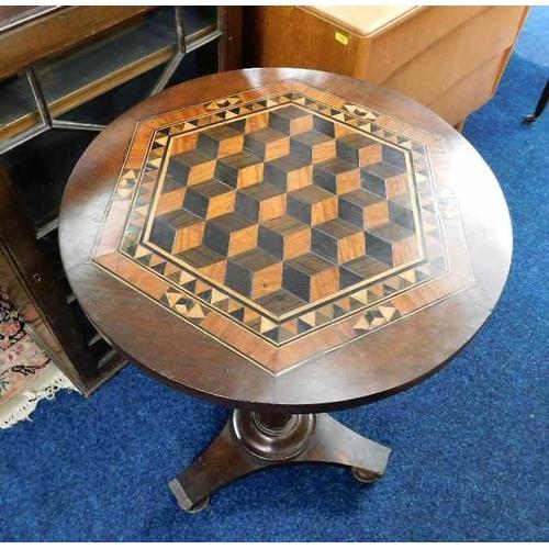56 - A 19thC. inlaid pedestal table...