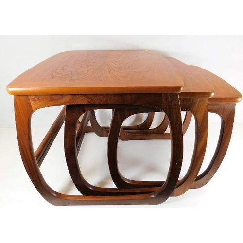 6 - A Nathan teak retro nest of tables...