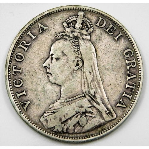 19 - A Victorian double florin 1890 36mm 22.4g...