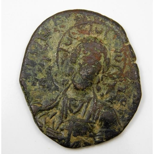 43 - An antiquated Byzantine coin 31mm...