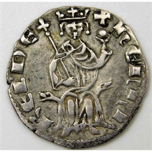 56 - Crusader States Lusignan Kingdom of Cyprus Henry II 1285-1324 coin 20mm...