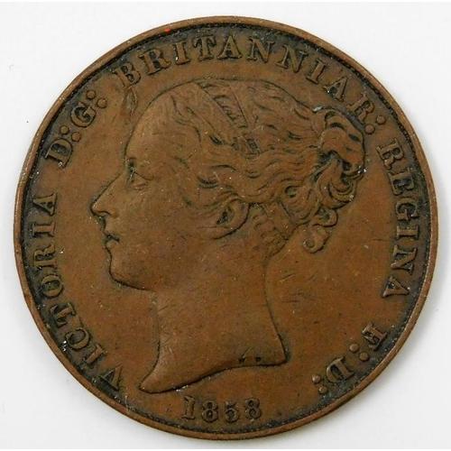 7 - An 1858 1/13 Jersey shilling 34mm 17.3g...