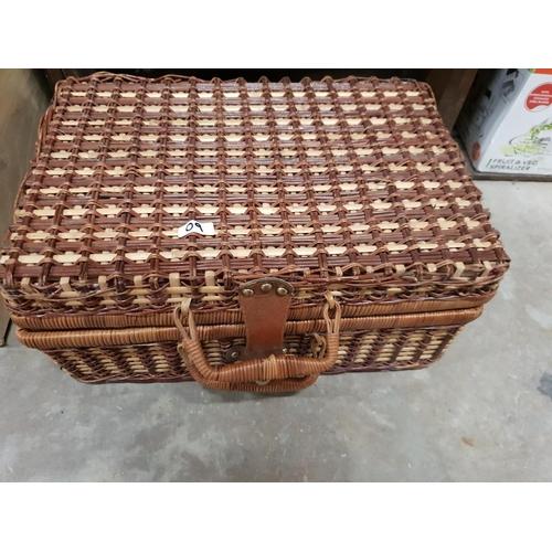 9 - wicker picnic basket...