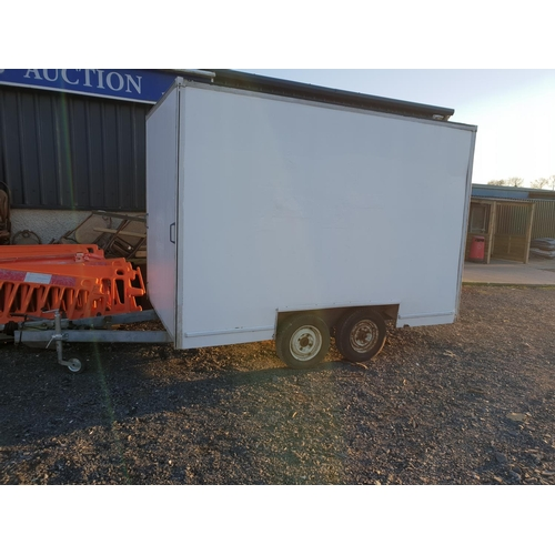48 - White box trailer with roller door 10x6ft....
