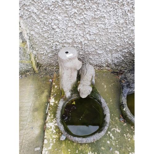 7 - Concrete dog garden ornament...