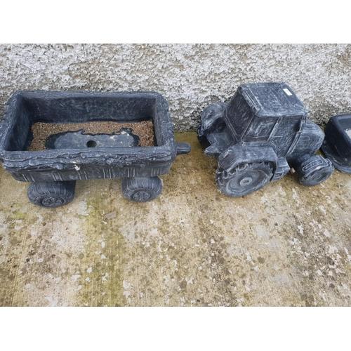 11 - Conrete tractor and trailer...