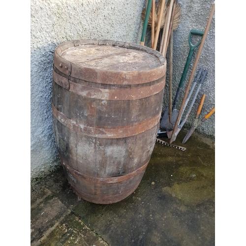 21 - Whiskey barrell...