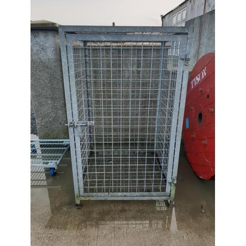2 - large steel galvanised cage...
