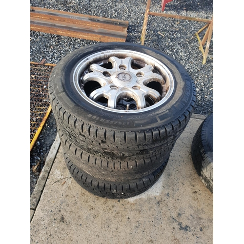 38 - 4 transit alloys and tyres...
